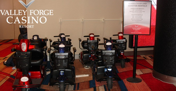 Scooter rentals at Valley Forge Mobility On Wheels location